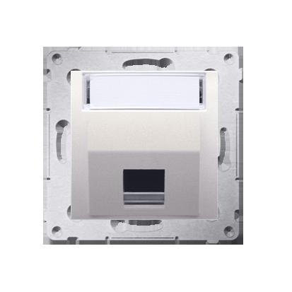Abdeckung für Telefon- und Datensteckdose (Modul) 1fach cremeweiß matt DKP1S.01/41