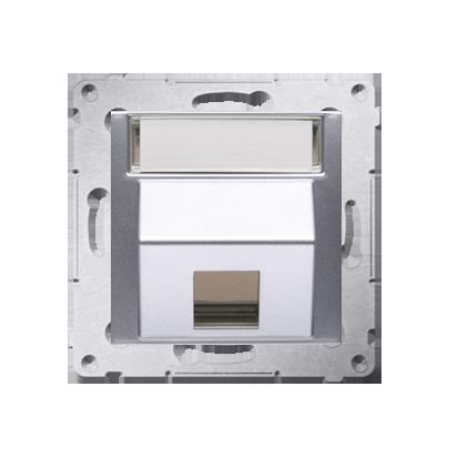 Abdeckung für Telefon- und Datensteckdose (Modul) 1fach silber matt DKP1S.01/43