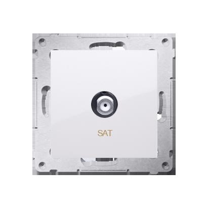 Antennendose SAT Einsatz weiß glänzend Simon 54 Premium Kontakt Simon DASF1.01/11