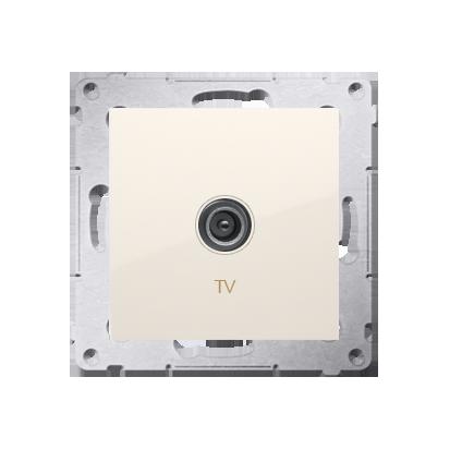 Antennendose TV Einsatz cremeweiß matt  Simon 54 Premium Kontakt Simon DAK1.01/41