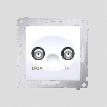 Antennensteckdose TV-DATA 2x 'F' 5-1000 MHz Simon 54 Premium Kontakt Simon DAD1.01/11