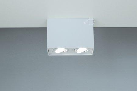 Aufbaustrahler Aufbauleuchte PALLAD 2 WHITE 2xGU10 Deckenleuchte quadratisch weiß EDO777111 EDO