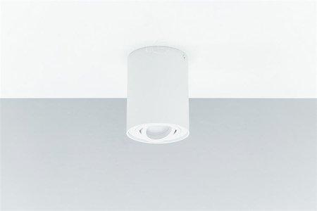 Aufbaustrahler Deckenspotleuchte 1 weiß white 1xGU10 IP20 rund 1-flammig
