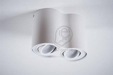 AufbaustrahlerDeckenspotleuchte 2 weiß white 2xGU10 IP20 rund 2-flammig