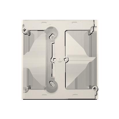 Aufputz- Gehäuse tief (40mm) mit Erweiterungselement für Mehrfach- Rahmen cremeweiß matt DSH/41