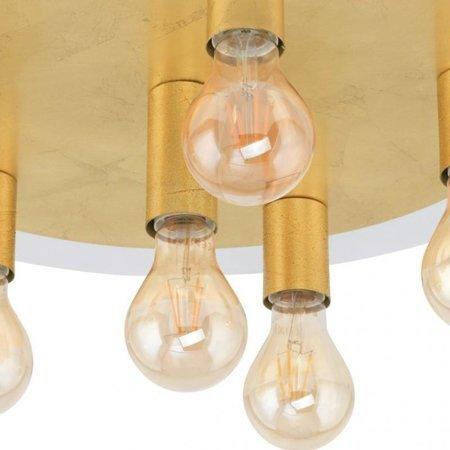 Aufputzlampe Deckenleuchte PASSANO gold 6xE27 4W 6x 320lm 2200K 97493 EGLO