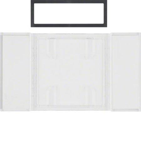 Beschriftungsfeld für B.IQ Tastsensoren 1-, 2- und 3fach B.IQ klar transparent Hager 75900080