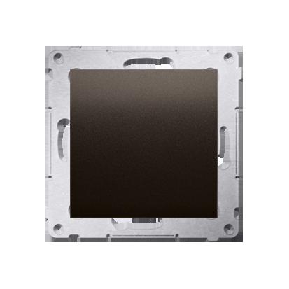 Blindverschluss mit Zentralstück für Rahmen Simon 54 Premium braun matt Kontakt Simon DPS.01/46