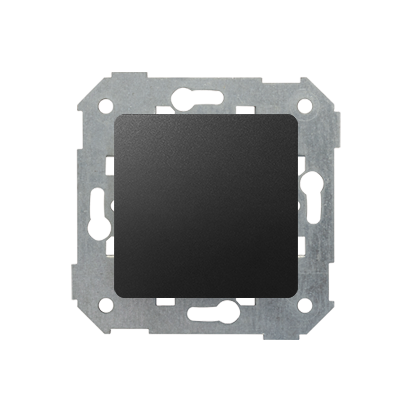 Blindverschluss mit Zentralstück graphit matt Kontakt Simon 82 82800-38