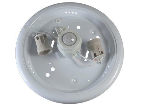 Deckenaufbauleuchte Sensorleuchte mit Bewegungsmelder 2xE27 IP20 Glas weiß