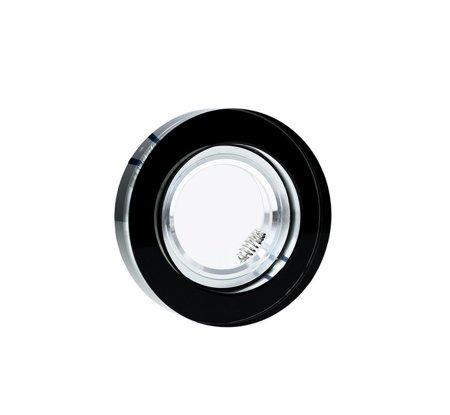 Deckeneinbauleuchte Deckenstrahler dekorativ rund GU10/MR16 Glas schwarz