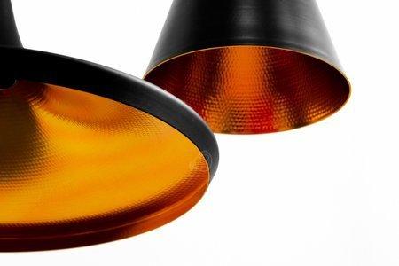 Deckenleuchte PendelleuchteLACRI OV 3xE27 schwarz vergoldet EDO777182 EDO