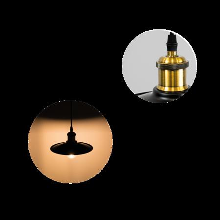 Deckenleuchte Pendelleuchte LOFT ORICH E27 Messing schwarz EDO777180 EDO