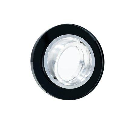 Deckenstrahler Einbaustrahler aus Glas schwarz schwenkbar rund