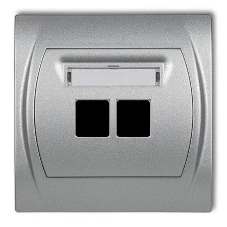 Doppelte Multimedia-Steckdose ohne Modul (Keystone-Standard) silber 7LGM-2P