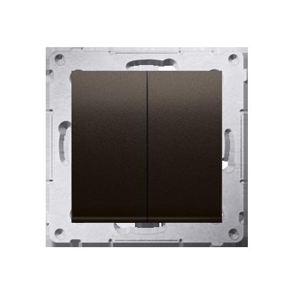 Doppelter Kerzenschalter (Modul) Braun matt Kontakt Simon 54 Premium DW5A.01/46