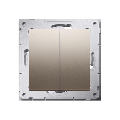 Doppelter Kerzenschalter (Modul) IP44 Gold matt Kontakt Simon 54 Premium DW5B.01/44