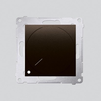 Drehdimmer 2polig für dimmbare LEDs braun matt Simon 54 Premium Kontakt Simon DS9L2.01/46