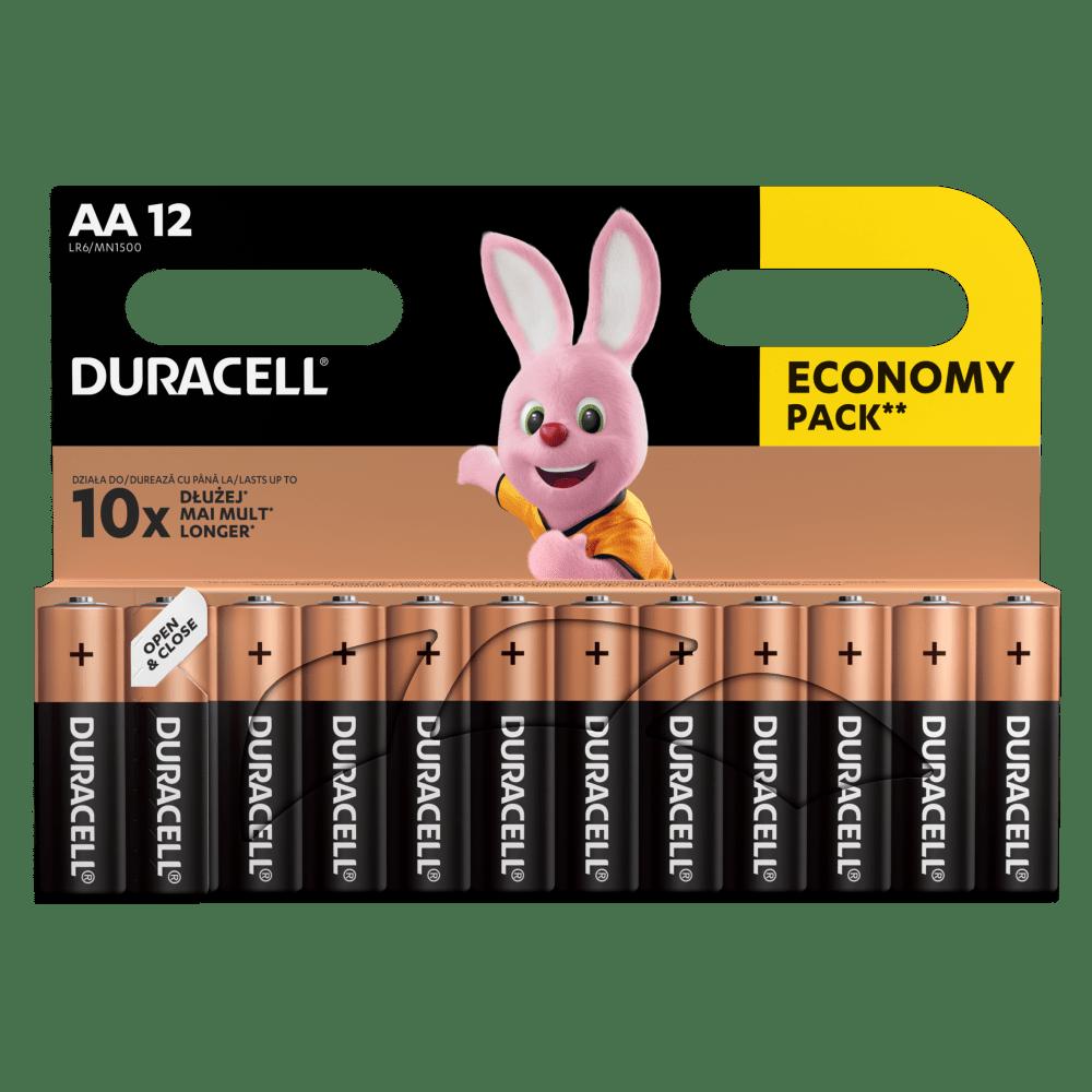 Duracell Alkaline-Batterien AA LR6 1,5V DURACELL Blister 12 Stück
