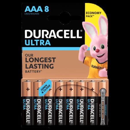 Duracell ULTRA POWER Alkaline-Batterie AAA LR03 1,5V Blister 8 Stück