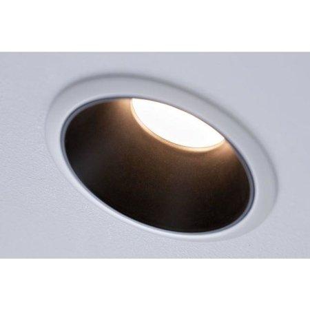 Einbauleuchte dimmbar COLE LED 6,5W 2700K IP44 weiß/Schwarz Paulmann PL93401