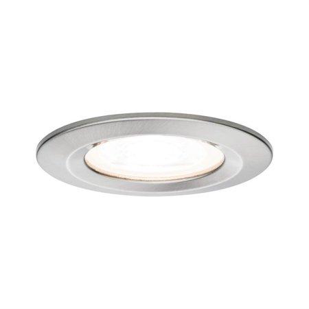 Einbauleuchte dimmbar LED Premium EBL Nova 1x7W GU10 Eisen gebürstet IP44