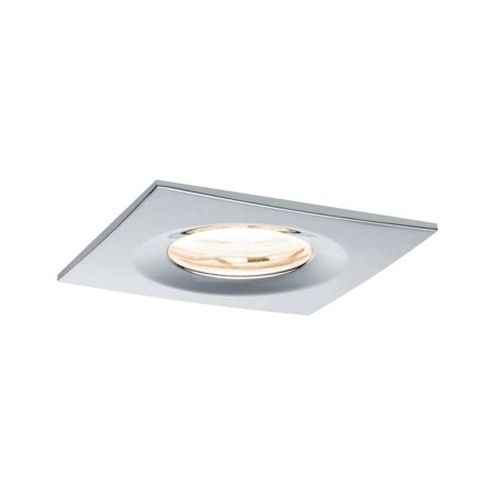 Einbauleuchte dimmbar quadratisch LED Premium EBL Nova 1x7W GU10 Chrom IP65