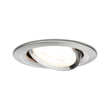 Einbauleuchte dimmbar schwenkbar LED Set Premium EBL Nova 3x7W GU10 gebürstetes Eisen