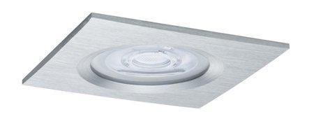 Einbauleuchte quadratisch dimmbar LED Premium EBL Nova 1x7W GU10 Aluminium IP44