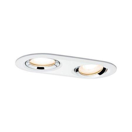 Einbauleuchte, schwenkbar rund NOVA LED 2x7W GU10 IP65 WW - Chrom, Weiß Paulmann PL92901