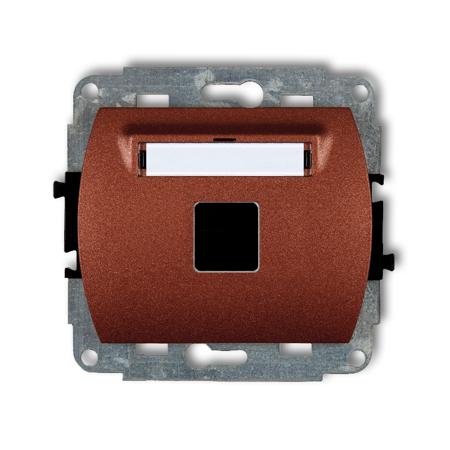 Einzelner Multimedia-Slot-Mechanismus ohne Modul (Keystone-Standard) braun 9GM-1P