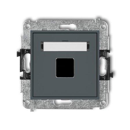 Einzelner Multimedia-Slot-Mechanismus ohne Modul (Keystone-Standard) graphit matt 28MGM-1P