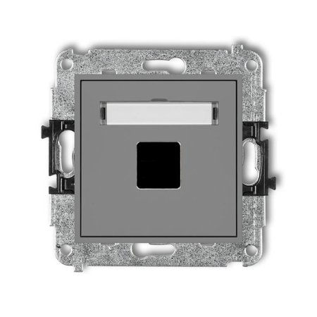Einzelner Multimedia-Slot-Mechanismus ohne Modul (Keystone-Standard) grau matt 27MGM-1P