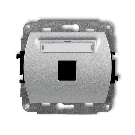 Einzelner Multimedia-Slot-Mechanismus ohne Modul (Keystone-Standard) silber 7GM-1P