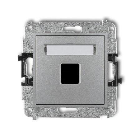 Einzelner Multimedia-Slot-Mechanismus ohne Modul (Keystone-Standard) silber 7MGM-1P