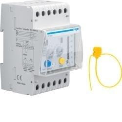 Fehlerstromschutz-Relais 30mA-10A mit Zeitverzögerung 50% Ausgang LED Anzeige Hager HR520