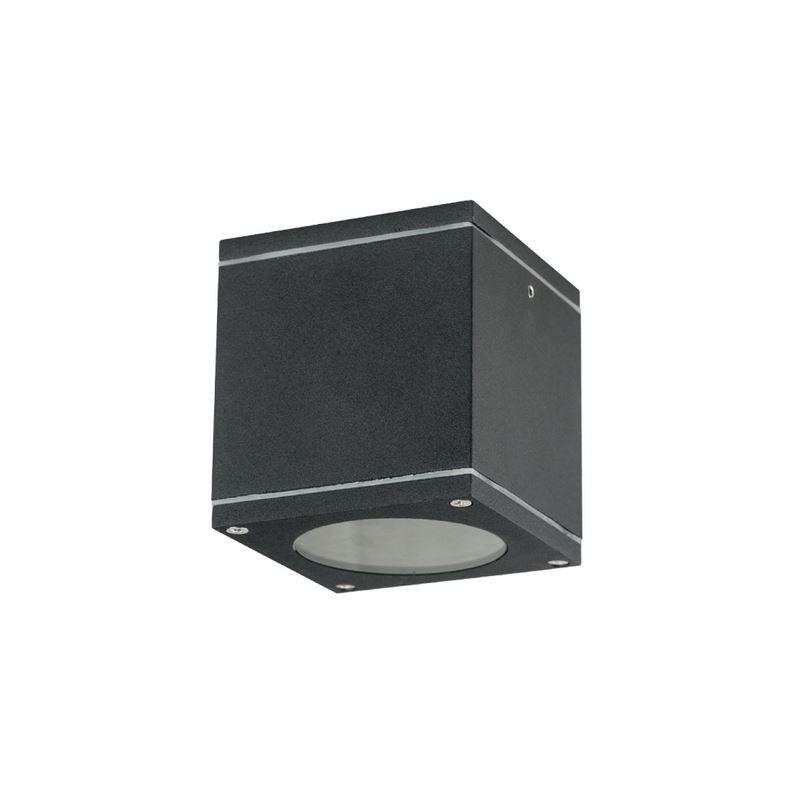 Gartendeckenlampe quadratisch QUAZAR 17 schwarz GU10 230V IP44 Kobi KTLOQZ17CZ