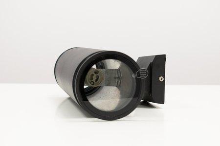 Gartenlampe, Fassaden Außenwandbeleuchtung ANGA 2 BLACK 2xGU10 schwarz IP54 EDO777371 EDO Garden Line
