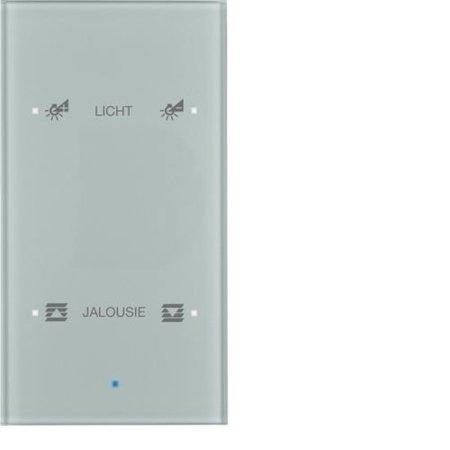 Glas-Sensor 2fach Komfort TS Sensor konfiguriert alu Hager 75142134