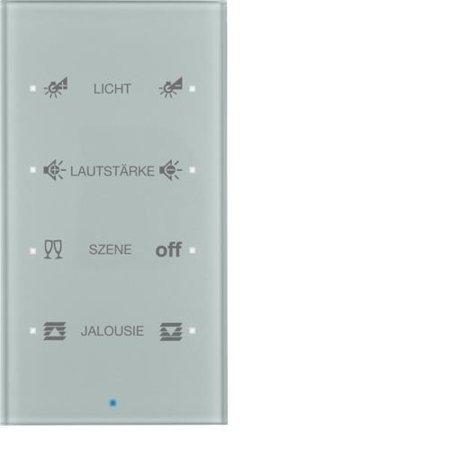 Glas-Sensor 4fach Komfort TS Sensor konfiguriert alu Hager 75144134