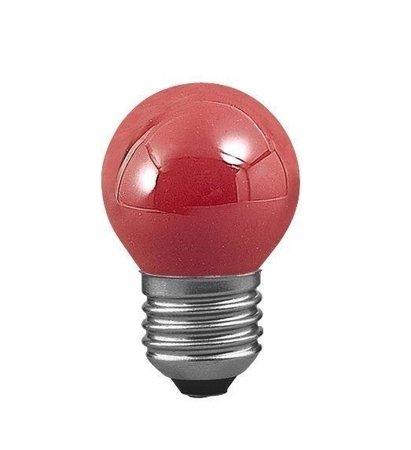 Glühbirne Kugel Rot E27 25W 2lm
