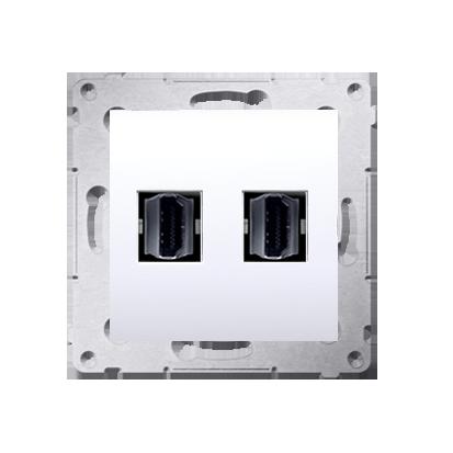 HDMI Anschlussdose Modul-Einsätze 2fach weiß Simon 54 Premium Kontakt Simon DGHDMI2.01/11