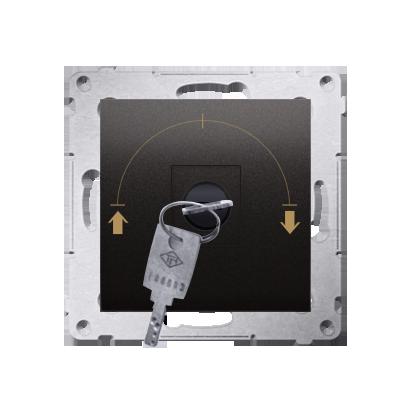"""Jalousie-Schlüsselschalter 1polig """"0-I-II"""" Anthrazit Kontakt Simon 54 Premium DPZK.01/48"""