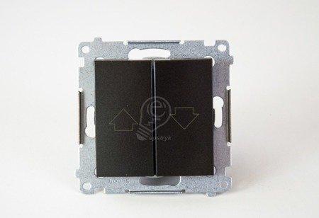 Jalousietaster 1polig mit Aufdruck Anthrazit matt Simon 54 Premium Kontakt Simon DZP1.01/48