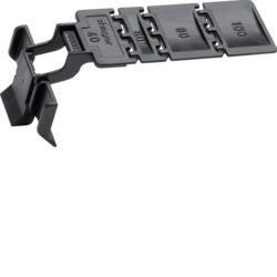 Klammer aus Polystyrol zu Verdrahtungskanal BA7/HA7 ab Breite 40 mm Hager BA7CLIP