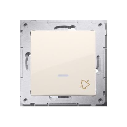Klingeltaster(Modul) mit Aufdruck und LED Cremeweiß Kontakt Simon 54 Premium DD1L.01/41