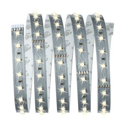 Komplettset mit Stripe LED 1,5m Warmweiß MaxLED 500 10W 2700K 825lm 230/24V Silber