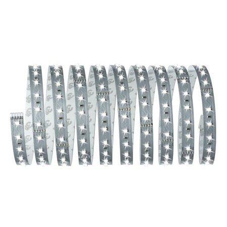 Komplettset mit Stripe LED 3m Tageslicht MaxLED 500 17W 6500K 1650lm 230/24V Silber