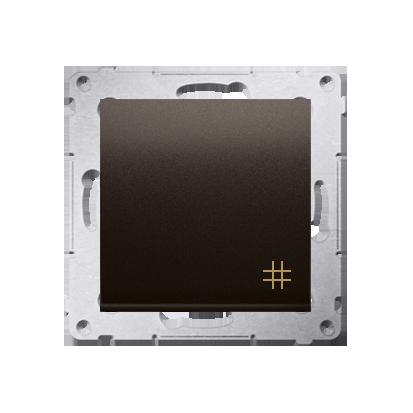 Kreuzschalter (Modul) mit Aufdruck  Steckklemmen Braun Simon 54 Premium Kontakt Simon DW7.01/46