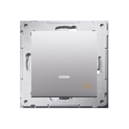 Kreuzschalter (Modul) mit Aufdruck und LED Silber Kontakt Simon 54 Premium DW7L.01/43